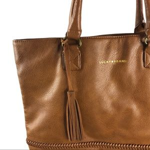 Lucky Brand Brown Leather Tote Bag